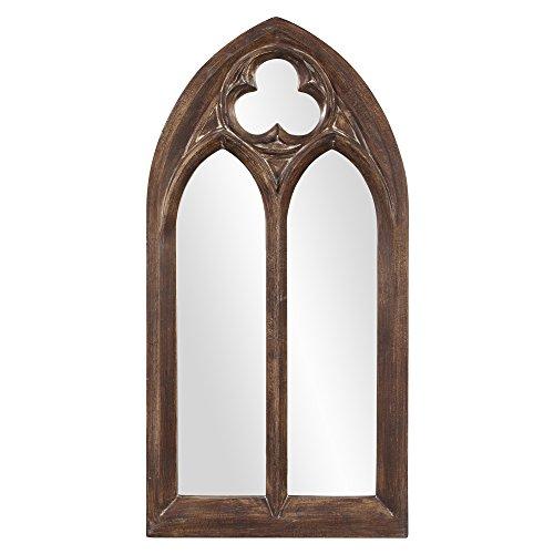 (Howard Elliott 43124 Basilica Arched Mirror, Narrow, Tuscan Brown)