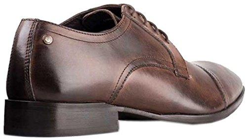 Base London Christie Cocoa Leder Herren Formal Schuhe