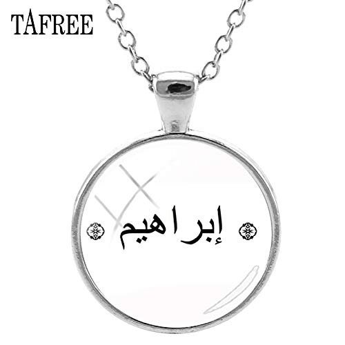 Pendant Necklaces - Arabic Name Pendants Necklace Custom Personalized Art Picture Necklaces Islamic Arab Customized Gift Women Jewelry AN23 - by Mct12-1 PCs