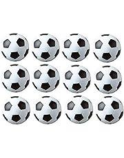 Table Soccer Foosballs Replacements Mini Black and White Soccer Balls - Set of 12 (Black and White)