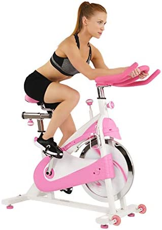 Sunny Health Fitness P8150 Belt Drive Premium Indoor Cycling Bike