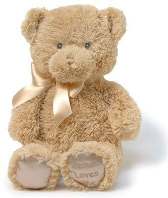 CBD Jesus Loves Me Lullabye Teddy Bear, Tan