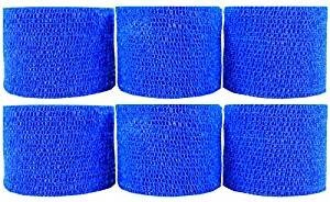 Powerflex 2'' Stretch Athletic Tape - 6 Rolls - Blue by Powerflex