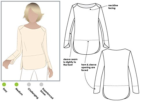 Style Arc Sewing Pattern - Savannah Knit Top (Sizes 04-16) - Click for Other Sizes Available