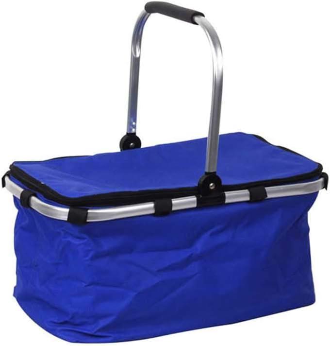 ピクニックバスケット 断熱バッグ折りたたみピクニックバスケットピクニックアイスバッグショッピングバスケット屋外ダブルハンドル 運動会 キャンプ アウトドア 使えます