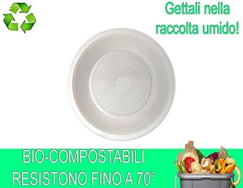 Palucart - 48 Platos hondos biodegradables Blancos de biocompost ...