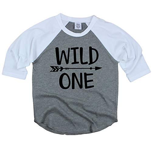 Wild One 1st Birthday Shirt for Boys Wild One Baseball Tee Shirt for Boys 1st Birthday