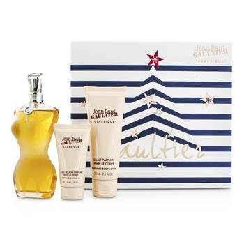 JEAN PAUL GAULITER CLASSIQUE 3PCS GIFT SET - (3.3 oz EDT Spray + 2.5 oz Perfumed Body Lotion + 1.0 oz Perfumed Showerl - Classique Gift Set