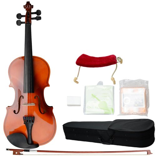 3-4-size-solid-wood-acoustic-violin-outfit-hard-case-bow-rosin-strings-tuner-shoulder-rest-beginner-