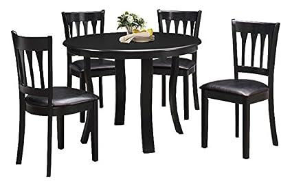 Amazoncom Milton Greens Stars Bilbao Round Dining Table - 42 round black dining table