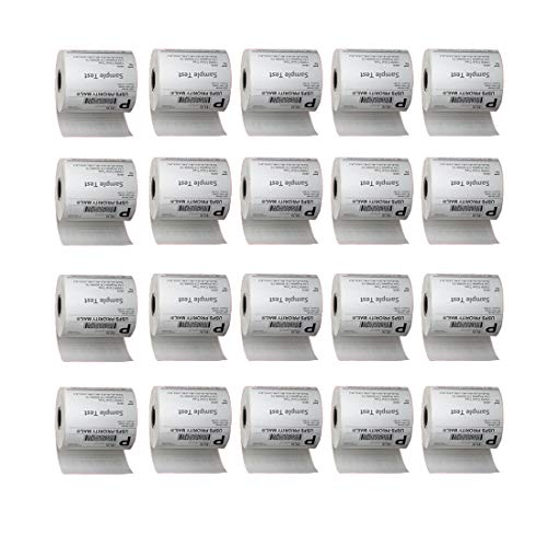 InpourPack 20 Rolls of 250 4x6 Direct Thermal Blank Shipping Labels for Zebra 2844 Zp-450 Zp-500 Zp-505 (Crown Zebra)