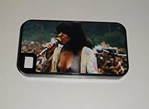 iphone covers GRACE SLICK Jefferson Airplane 70s Era Iphone 6 plus HEAVY DUTY BLACK RUBBER CELLPHONE CASE