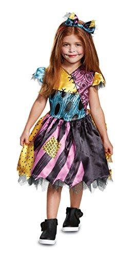 Disguise Sally Classic Toddler Child Costume, Multi Color, Medium/(3T-4T) -