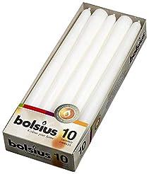 BOLSIUS Long Household White Taper Candl...