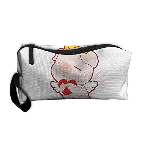 Jessent Coin Pouch Love Pig Pen Holder Clutch Wristlet Wallets Purse Portable Storage Case Cosmetic Bags Zipper -
