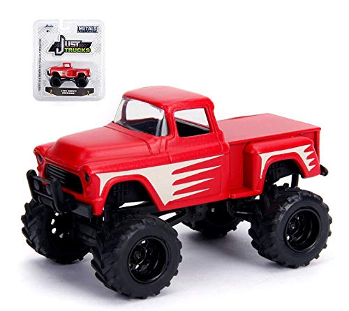 (Jada Just Trucks 1:64 Scale, red 1955 Chevy Stepside Wave 20)