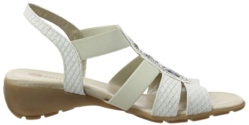 Open Kreide Weiß Toe White Remonte Kreide Sandals Dorndorf Women's R5248 80 Champignon Can1CxSqt