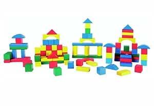 The Toy Company 15780 Beeboo - Juego de construcción con bloques de madera de colores