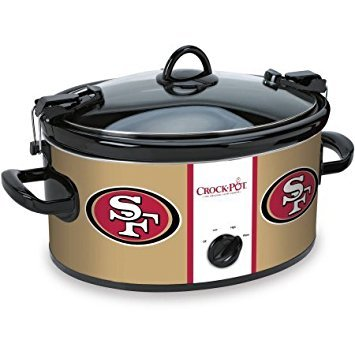 Crock-pot SCCPNFL603-SF San Francisco 49'ers Slow Cookers, White (Best Ol In Nfl)