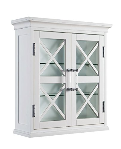 Elegant Home Fashions Blue Ridge Two Doors Wall Cabinet in White