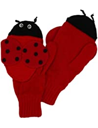KIDORABLE girls Little Ladybug Mittens