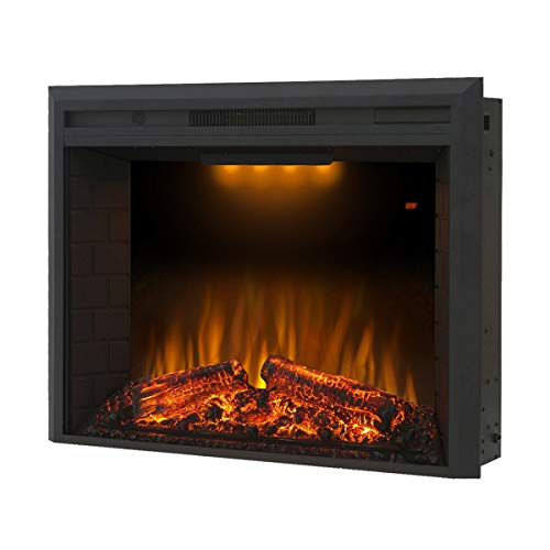Cheap Valuxhome Insert Electric Fireplace Fire Crackler Sound Black Black Friday & Cyber Monday 2019