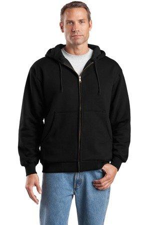 Work Cornerstone Jacket - Cornerstone Men's Heavyweight Full Zip Hooded Sweatshirt with Thermal M Black