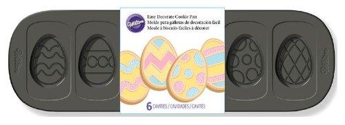 Wilton 2105-1401 Easy Decorate Egg Cookie Pan, 6 Cavities ()