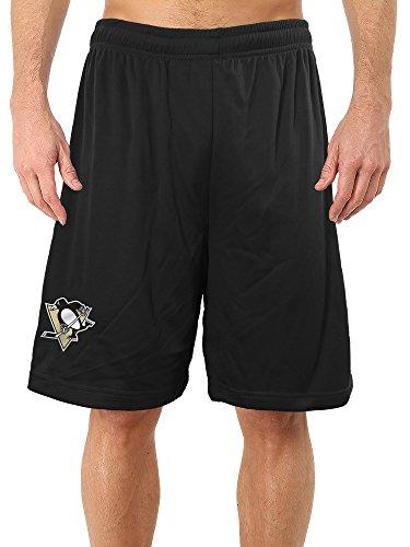 (Calhoun NHL Men's Team Logo Air Mesh Shorts (Pittsburgh Penguins, Medium))