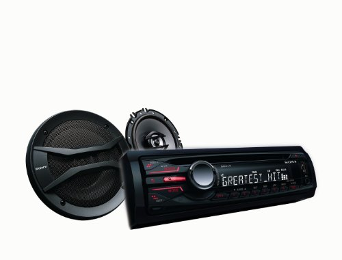 Sony CDX-GT40U CD Receiver with Speakers (CXS-GT4016F) (Discontinued by Manufacturer)
