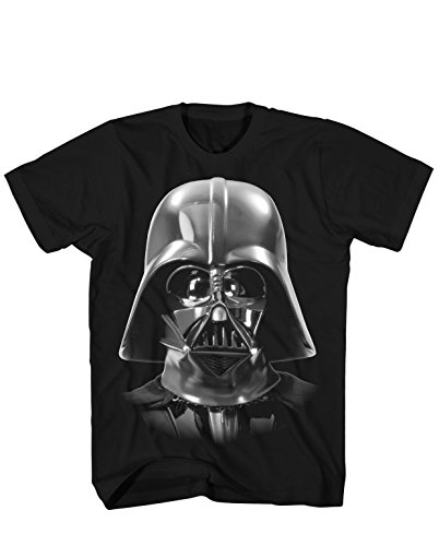 Vader Face - Darth Vader Costume Face Death Star Funny Humor Pun Adult Men's Graphic Tee T-Shirt Apparel (Large) Black