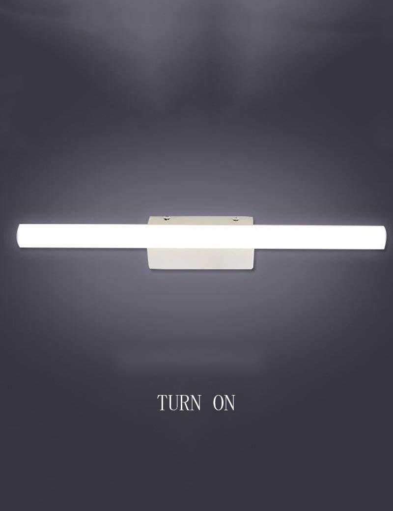 JQD Hauptbadezimmer-Spiegel-Scheinwerfer-geführtes Eisen-Acrylschatten-Wasserdichter Anti-Nebel-Spiegel-Front-Licht-Badezimmer-Mode-einfacher moderner Verfassungs-Spiegel-Glühlampe eingeschlossen, Sp