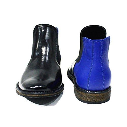 Pour Bleu Italiennes Souple Hommes Des Peppeshoes Cisterna Di Vachette Sur Glisser Bottes Handmade Cuir Modello Chelsea De Latina Bottines C0vBqxfw