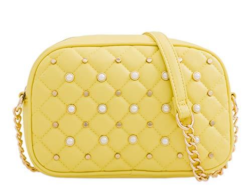 yellow Body Handbags 162 Small L Pearl Chain Strap Women's Cross Bag LeahWard wtPqxZFYOW