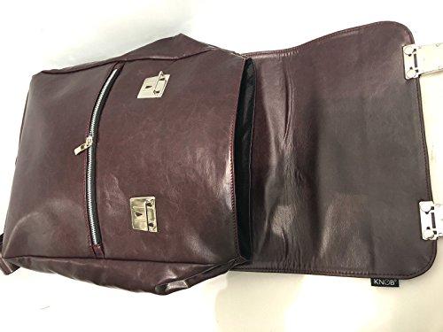 Knob Musician Design , Sac pour homme à porter à l'épaule Bordeaux bordeaux