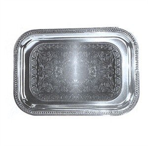 (Winco CMT-2014 Oblong Tray, 20-Inch by 14-Inch, Chrome)