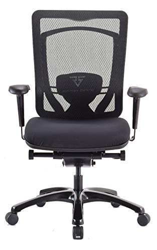 Raynor Gaming Energy Competition Series Office Computer Chair V-G-ECMP-BLK PC Mesh Back with Dual Layer Outlast Cooling, Swivel Tilt, Tension, Lock, Detachable Lumbar Cushion, Foam Molded Seat, Black