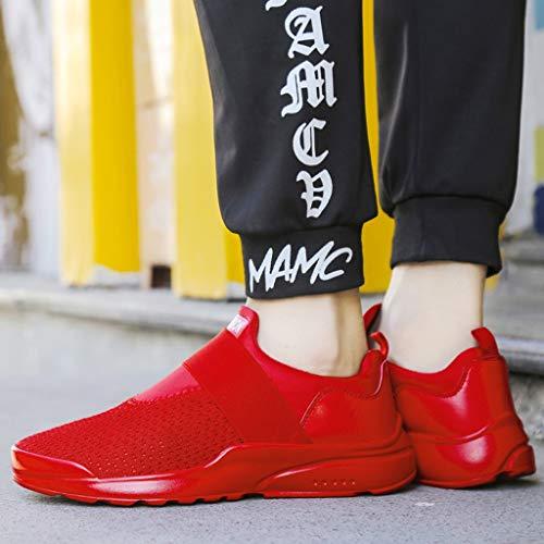 Résistant À 39 Hommes Sport Rouge Chaussures Gongzhumm Homme Eu Respirant 44 Antidérapant L'usure Course Maille Athlétiques Sneakers Jogging Baskets A De aw7OfY