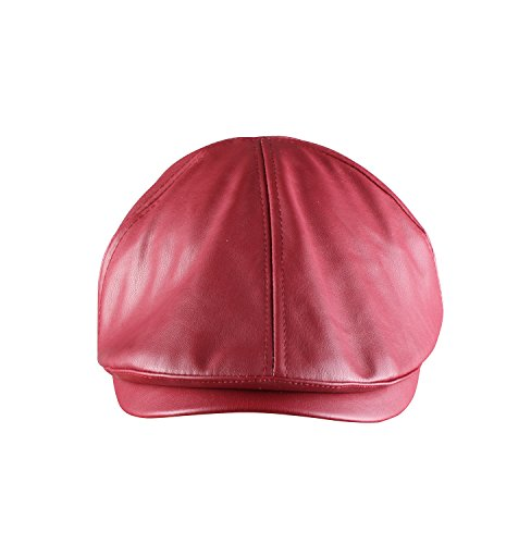 ORSKY Red Newsboy Cap Adult Flat Hat Classic Irish Cap Ivy Driving Cap Red (Great Gatsby Costumes For Men)