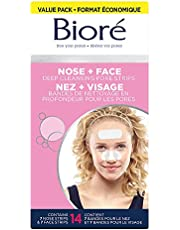Bioré Deep Cleansing Pore Strips Mixed Value Pack for Instant Pore Unclogging and Blackhead Removal (14 Count)