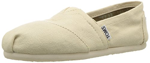 TOMS Women's Canvas Slip-On,Light Beige,5.5 M
