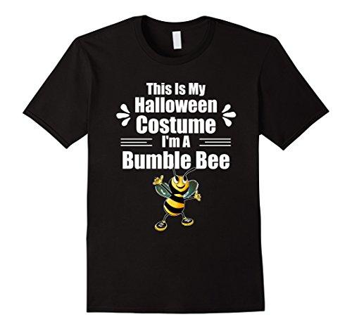 Mens Bee Costumes (Mens I'm A Bumble Bee Easy Halloween Costume Apparel T-Shirt XL Black)