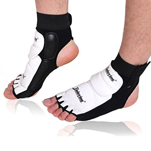 OUTFANDIA Elastic Ankle Brace Support Pad Foot Protector Kickboxing Taekwondo Foot Gear Martial Arts Protector Sparring Gear Foot Support Socks for Adult Children 1Pair (L)