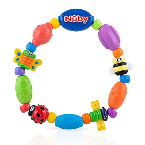 Nuby Bug-A-Loop Teether, Colors May Vary Butterflies Are Free Necklace