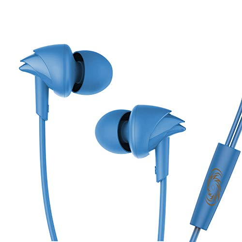 boAt BassHeads 100 Mumbai Indians Edition in-Ear Wired Earphones with Super Extra Bass, in-line Mic, Hawk Inspired Design and Perfect Length Cable (MI Blue)