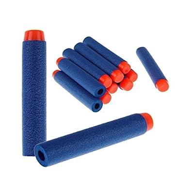 100 Pcs 7.2cm Blue Foam Darts for Nerf N-strike Elite Series Blasters Toy Gun: Toys & Games