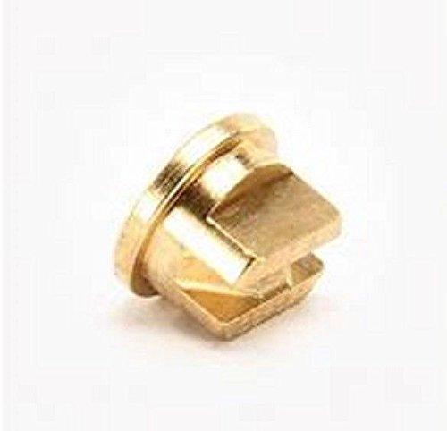(TeeJet OC-06 Off-Center Spray Tip, 0.52-0.73 GPM, 30-60 psi, Brass - Gold)
