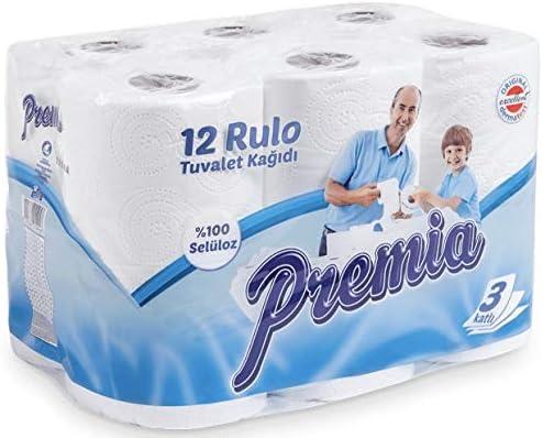 [Gesponsert]48 Rollen Toilettenpapier 3-Lagig Weiss WC Klopapier 100% Cellulose Zellstoff 150 Blatt weich palette 3lagig großpackung...