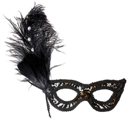 (Leopard Eyemask With Strass Feathers Traditional Acapulco Masks Eyemasks &)