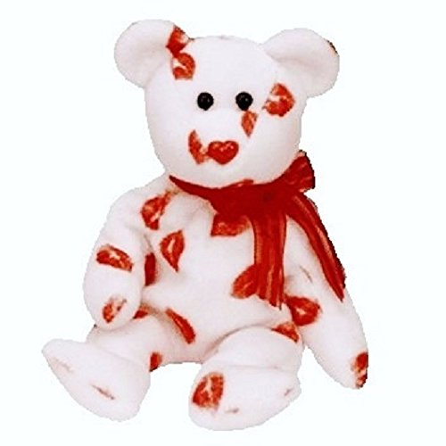 Valentines Day Beanie Baby - TY Smooch the Bear Beanie Baby by TY~VALENTINE'S DAY BEANIES